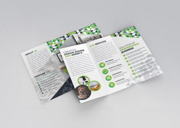 Samantha Tri-Fold Corporate Brochure Template