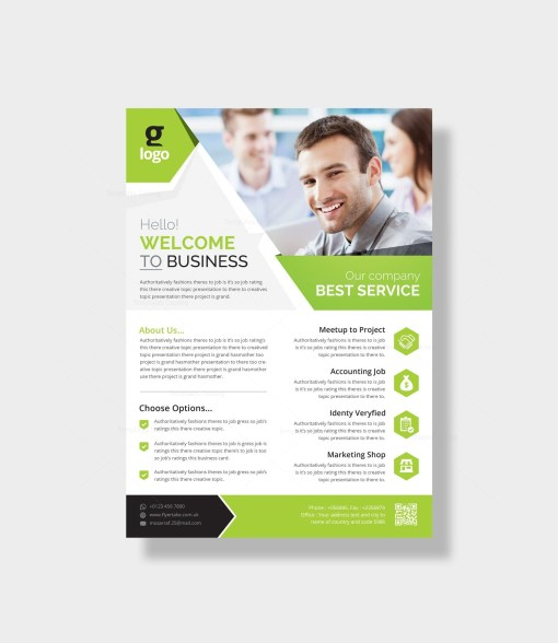 Aether Stylish Corporate Flyer Template