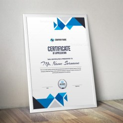 Angel Professional Portrait Certificate Template