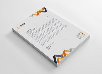 Chevron Professional Corporate Letterhead Template