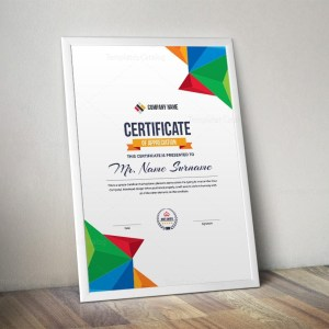 Colorful Portrait Certificate Template