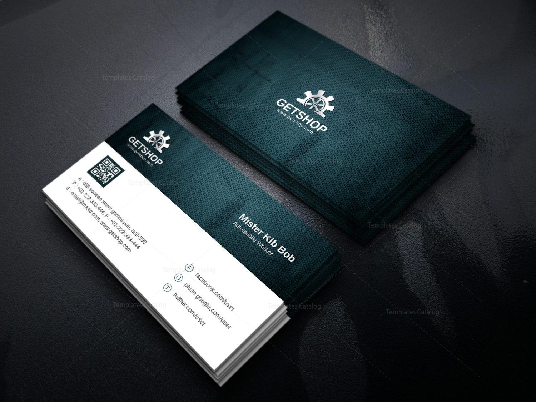 fabric modern corporate business card template 000926