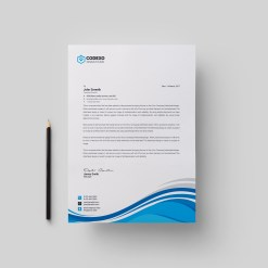 High Quality Modern Corporate Letterhead Template