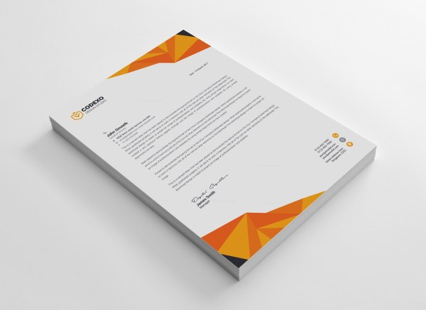 High Quality Professional Corporate Letterhead Template