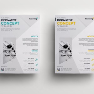 Innovative Clean Professional Corporate Flyer Template