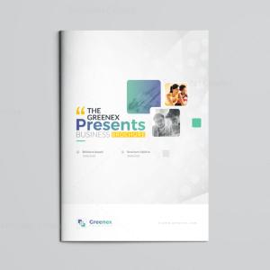 16 Pages Minimalist Elegant Corporate Brochure Template