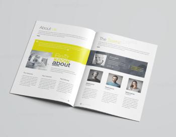 16 Pages Poseidon Professional Company Profile Template