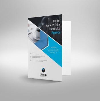 Arrow Elegant Corporate Presentation Folder Template
