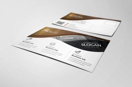 Atlas Modern Elegant Postcard Template