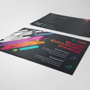 Colorful Modern Stylish Postcard Template