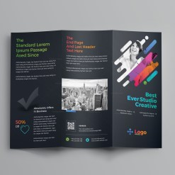 Colorful Professional Tri-Fold Brochure Template