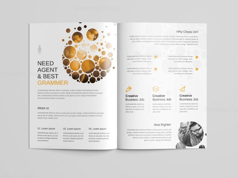 Cyclone Professional Bi-Fold Brochure Template