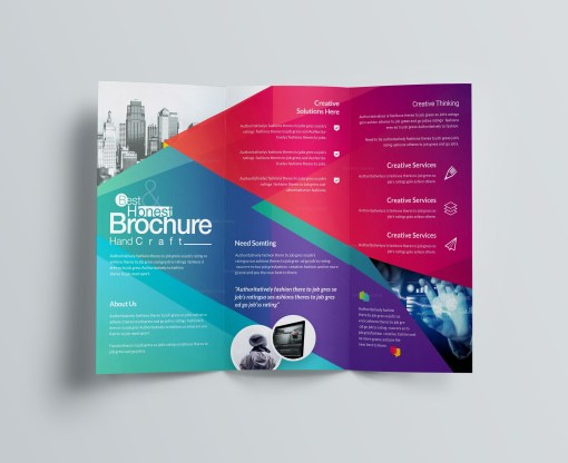 Excellent Professional Corporate Tri-Fold Brochure Template
