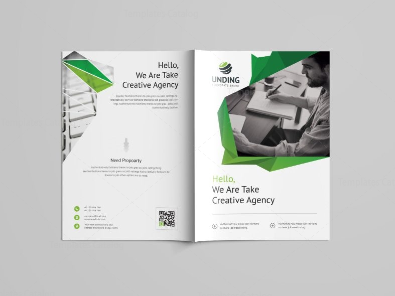 Fancy Professional Bi-Fold Brochure Template