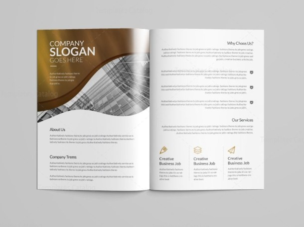 Halley Professional Bi-Fold Brochure Template