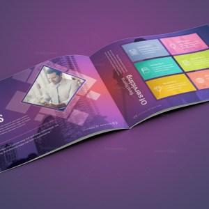 Neptune Corporate Landscape Brochure Template