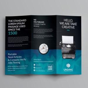 Ocean Corporate Tri-Fold Brochure Template