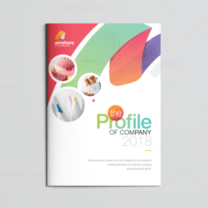 Rainbow Elegant Corporate Brochure Template