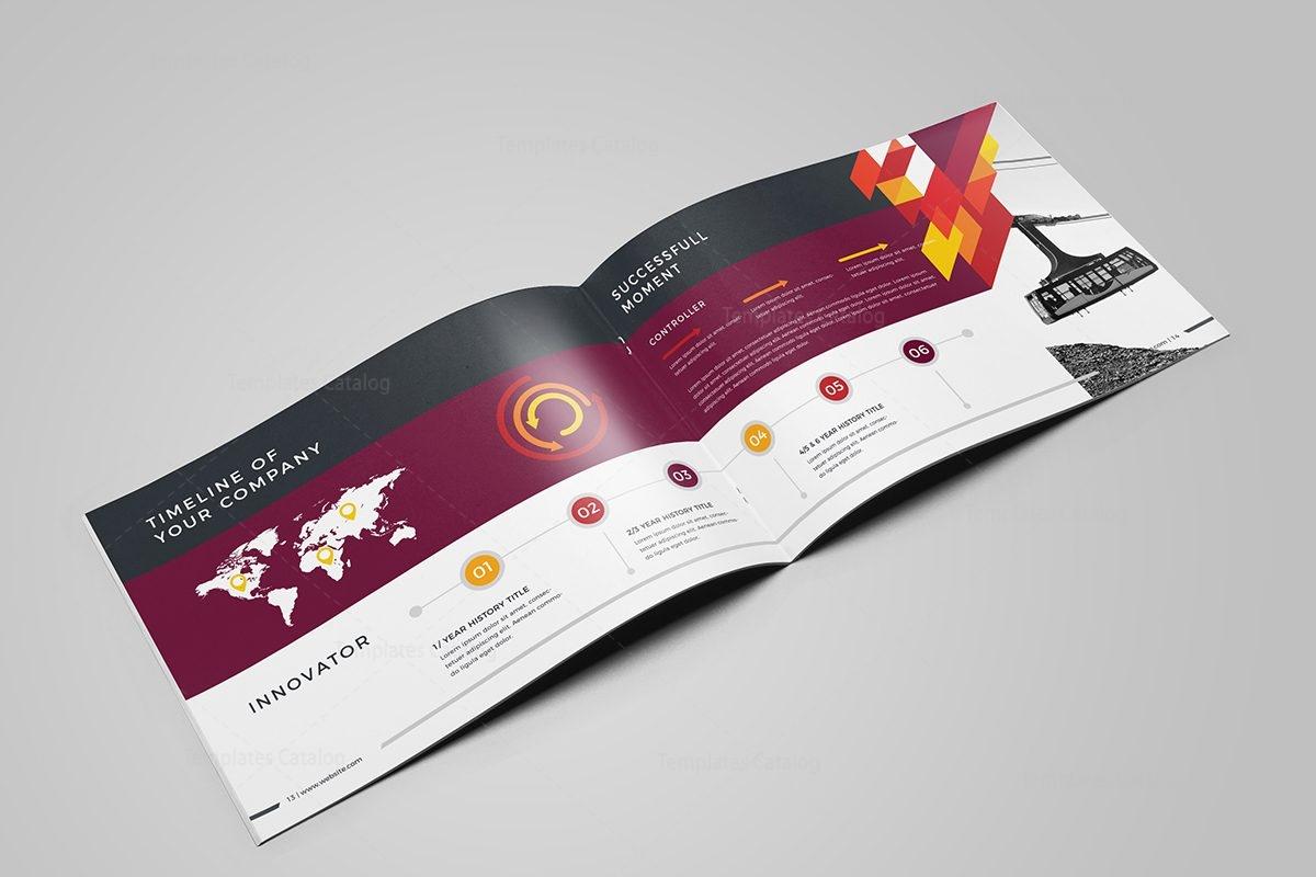 Stylish Professional 16 Pages Landscape Magazine Template 001108