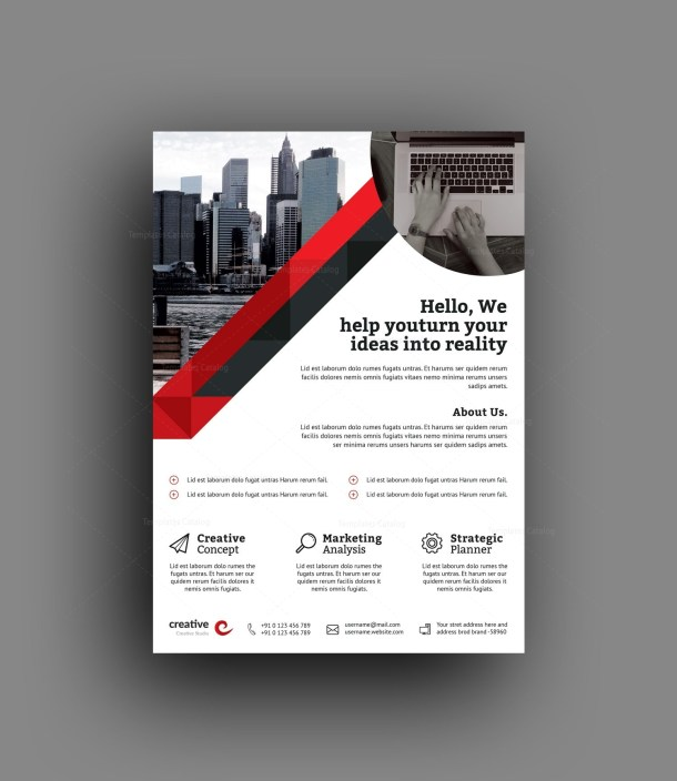 Berlin Elegant Professional Business Flyer Template