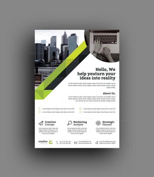 Berlin Elegant Professional Business Flyer Template
