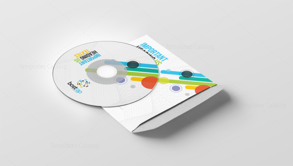 Colorful CD Sleeve and Sticker Template