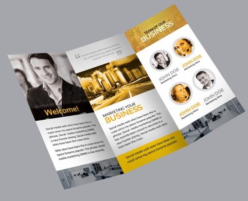 Flora Corporate Creative Tri-fold Brochure