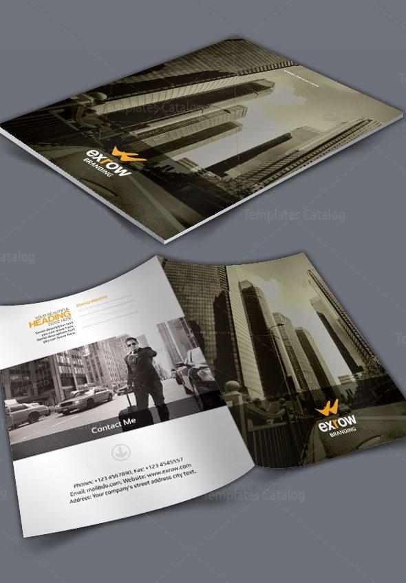 Flora Corporate Presentation Folder Template