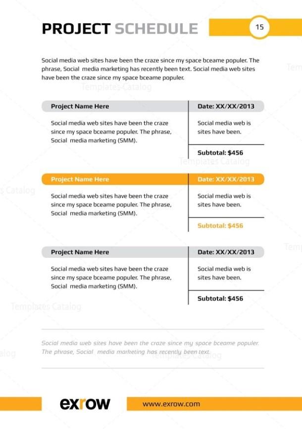 Flora Premium Business Bi-Fold Proposal Template