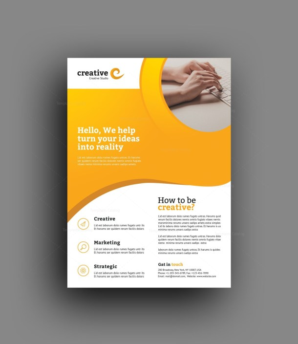 Madrid Elegant Professional Business Flyer Template