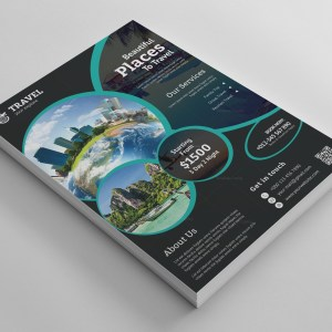 Poseidon Travel Agency Flyer Design Template