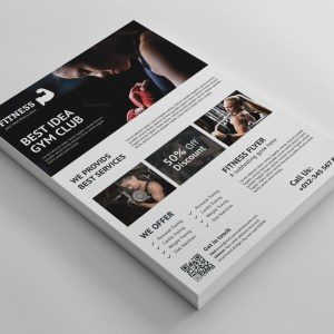 Premium Fitness Flyer Design Template