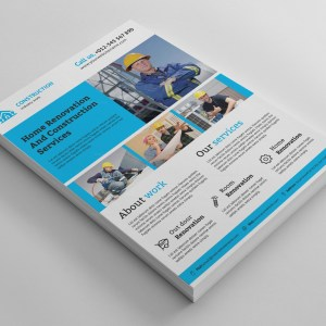 Renovation Construction Flyer Design Template
