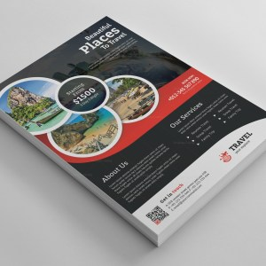 Tropical Travel Agency Flyer Design Template