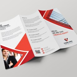 Athena Professional Tri-fold Brochure Design Template
