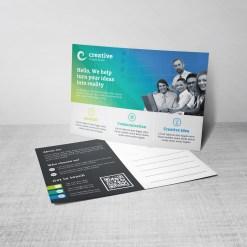 Atlas Creative Corporate Postcard Template