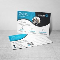 Creative Corporate Postcard Design Template