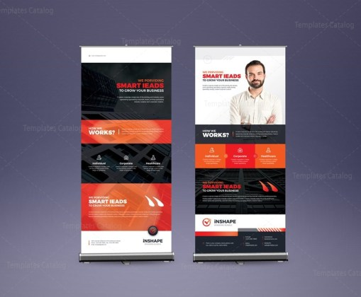 EPS Corporate Roll-Up Banner Design Template