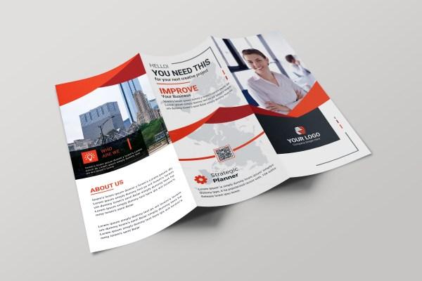 Hamburg Professional Tri-fold Brochure Design Template