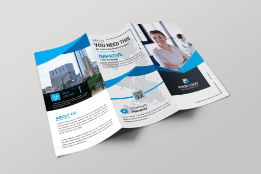 Hamburg Professional Tri-fold Brochure Design Template
