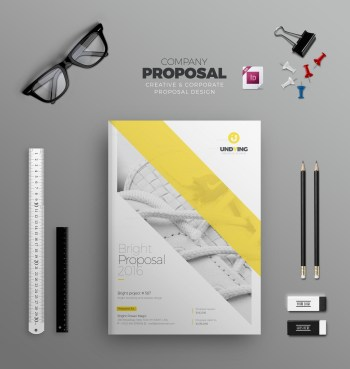 INDD Elegant Business Bi-Fold Brochure Design Template