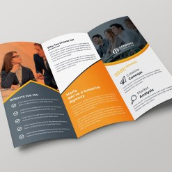 Paris Creative Tri-fold Brochure Design Template