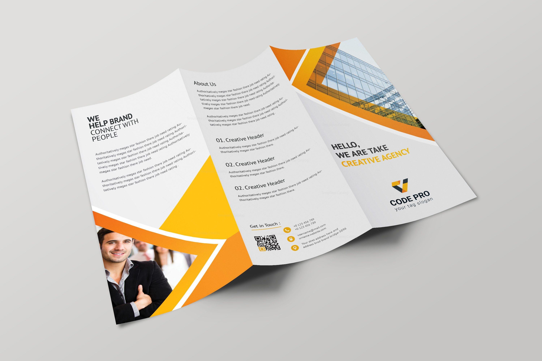 Prague Professional Tri-fold Brochure Design Template