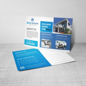 Premium Creative Real Estate Postcard Design Template