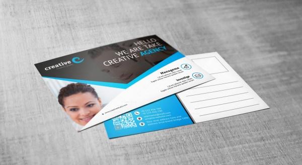 Stylish Creative Corporate Postcard Template