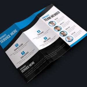 Texas Modern Creative Tri-fold Brochure Design