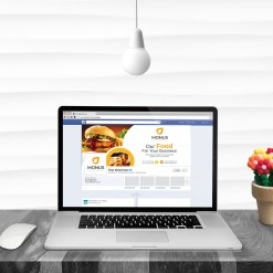 Burger Facebook Timeline Cover Template