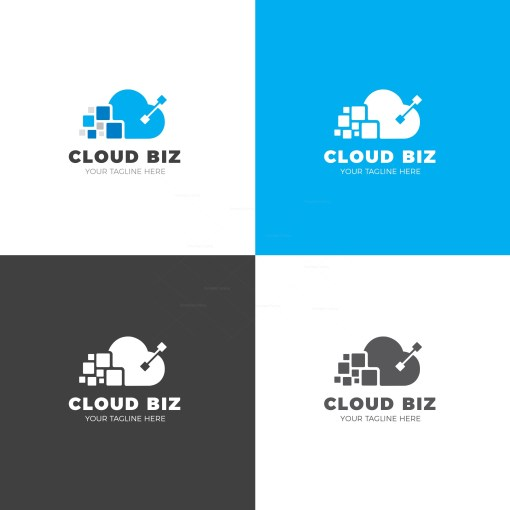 Cloud Biz Creative Logo Design Template