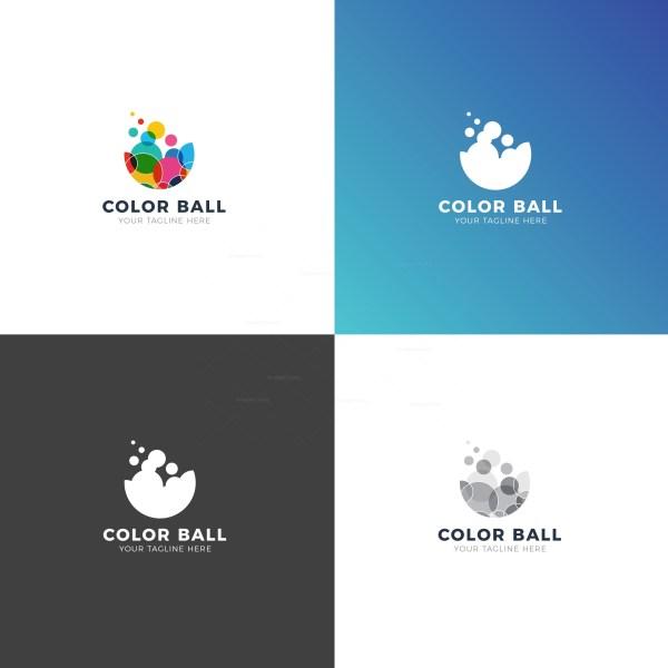 Color Balls Professional Logo Design Template
