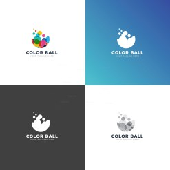 Color Balls Professional Logo Design Template
